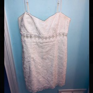 LILLY PULITZER White Eyelet Scheena Cutout Dress 6